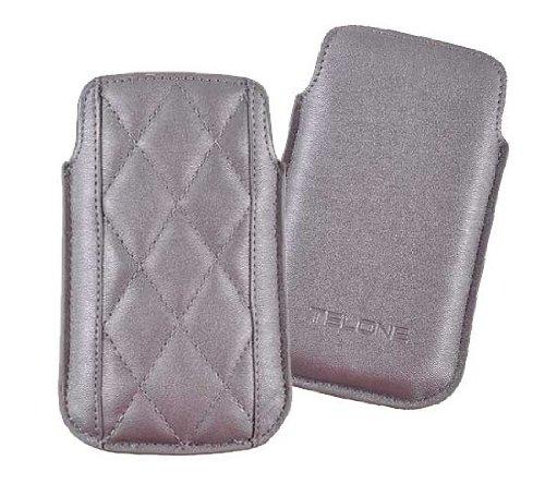 Etui, Tasche, Ledertasche Handytasche für IPHONE 2G 3G 4G HTC MAGIC NOKIA E63 E71 E72 N8 C3 SAMSUNG I900 I5700 Silber universell 7,3cm x 12,5cm 3g Htc Magic