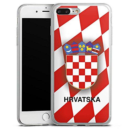 Apple iPhone X Slim Case Silikon Hülle Schutzhülle Kroatien EM Trikot Fußball Europameisterschaft Silikon Slim Case transparent
