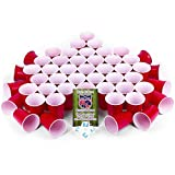 EVIL JARED's College Cups | 50 Rote Becher (480ml) + 4 Ping Pong Bälle für Beer Pong | Red Cups College Partybecher -