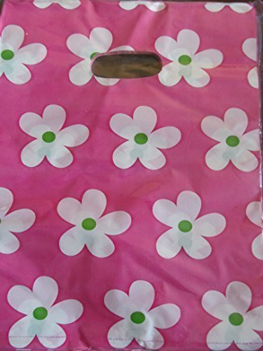 45+ taschen pro packung Qualität Mode tiere, leoparden, blumen, gepunktet druck 18.5cmx17cm Kunststoff Tragetaschen für shops, märkte, party geschenk beutel - von Fett-Catz-Kopie-catz - Kunststoff, rosa blumen, 18.5cmx17cm, 18.5cmx17cm (Design-kopie-papier)