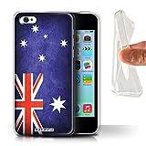 Stuff4 Coque Gel TPU de Coque pour Apple iPhone 5C / Australie/Australien Design/Drapeau Collection