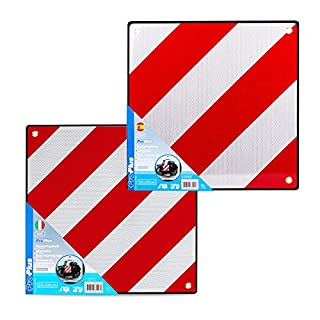 Aluminium Warntafel SET Spanien & Italien mit Ösen 50 x 50 cm reflektierend in rot/weiß