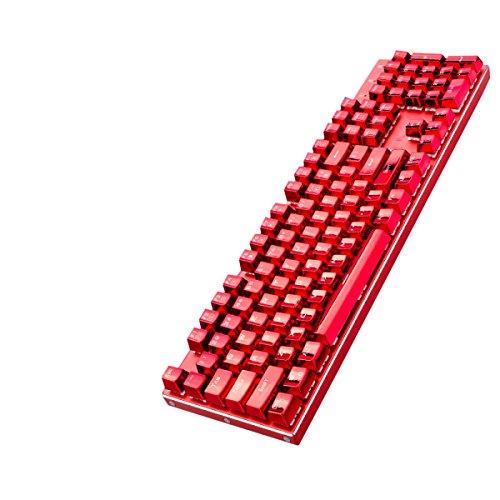 Teclado Mecánico Snrgoij 104 Tecla No Red LOL Juegos De Metal Teclado Retroiluminado Teclado Suave Teclado Suave,Red