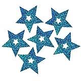 xMxDESiZ 102 Stück Schleife glitzernde Sterne Anhänger Hochzeit Ballon Dekoration Party Supplies