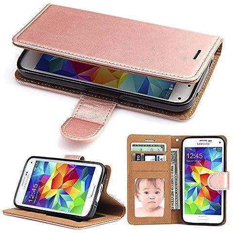 Galaxy S5 Tasche,SOWOKO Galaxy S5 Hülle Ledertasche Case mit Brieftasche