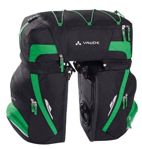 vaude-karakorum-alforja-para-bicicleta-color-negro-verde-58-x-6-x-32-cm-68-l