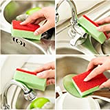 #2: Deluxe Scrubbing Sponges 10 x Sponges with Scouring Pads Household Uses