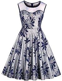 f7c74a8c3 Amazon.es: Vestidos Bordados - Azul / Vestidos / Mujer: Ropa