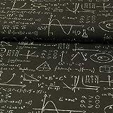 Stoffe Werning Dekostoff höhere Mathematik schwarz