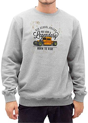 Old School Racers Sweater Grigio Certified (Camaro Motore Motore)