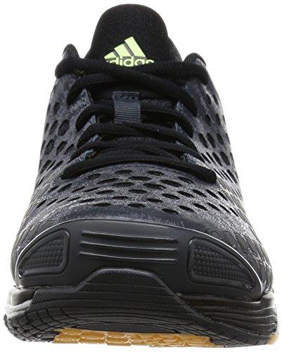 Adidas response boost volleyballschuhe volley Gris - dark grey/silver met./frozen yellow f15