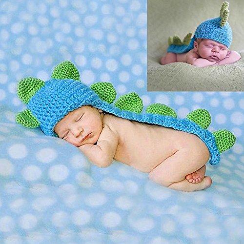 Sunfire Dinosaurier handgefertigt Crochet Knit Kostüm Foto Fotografie Prop (Coole Dinosaurier Kostüme)