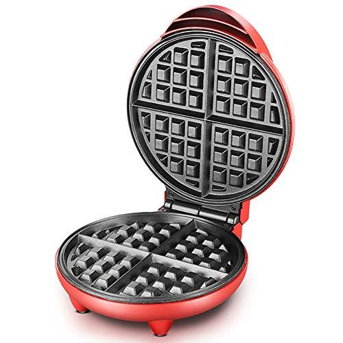 FJNS Piastra elettrica Antiaderente per Waffle,4 Waffle allo Stesso Tempo,Mini Waffle da 1200W, Riscaldamento bilaterale, Luce di Segnalazione Controllo della Temperatura
