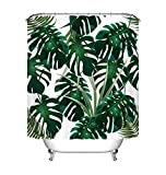 Best Green Forest Dining Tables - LB shower curtain for bathroom exotic tropical jungle Review