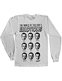 Officiellement Marchandises Sous Licence Sheldons Emotions Long Sleeve Tee (Blanc)
