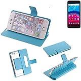 K-S-Trade Flipcover für Archos Core 55S Schutz Hülle Schutzhülle Flip Cover Handy case Smartphone Handyhülle blau