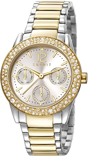 Esprit Damen-Armbanduhr Es-Eslie Two Tone Analog Quarz Edelstahl ES107152005