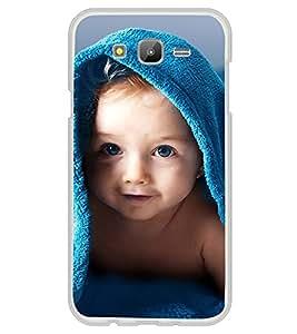 Cute kid with Blue Towel 2D Hard Polycarbonate Designer Back Case Cover for Samsung Galaxy E5 (2015) :: Samsung Galaxy E5 Duos :: Samsung Galaxy E5 E500F E500H E500HQ E500M E500F/DS E500H/DS E500M/DS