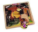 Mascha und der Bär Einlegepuzzle Masha and the Bear Kinder Holz Spielzeug Puzzle: Farbe: Motiv 4