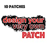 Custom personalizzata, gancio di sublimazione toppe stampato con il tuo design, Cotone, 10 Patches, 75mm Wide 50mm High
