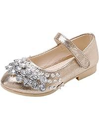V-SOL Zapatilla para Niña Zapatos de Fiesta con Lentejuela Baile