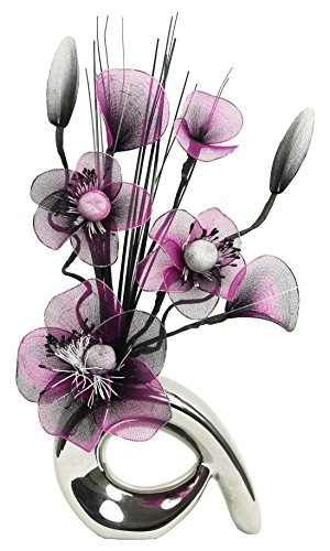 Diseño de flores de Mini 793258 32 cm hanega Artificial jarrón con d