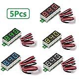 Mini Digital Voltmeter Drei-zeilen DC 0-100 V Mini Digital Voltmeter Messgerät Tester Led-anzeige Verpolungsschutz und Genaue Druckmessung 0,28 Zoll