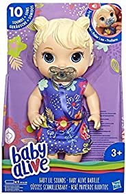 Baby Alive E3690ES10 Alive Baby Lil Sounds: Interactive Baby Doll