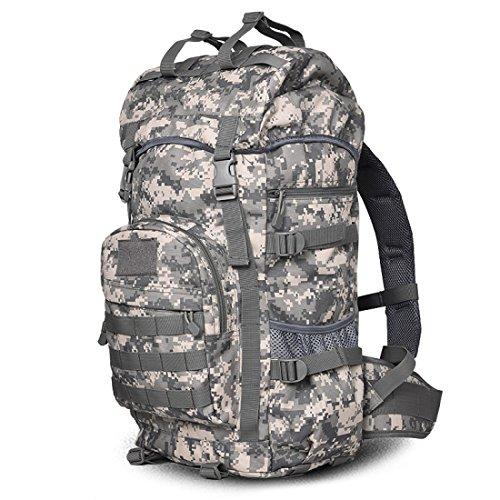 LF&F Backpack Camping outdoor Zaini Borse Borsa a tracolla tattica da camuffamento alpinismo equitazione zaino da campeggio 50 l di grande capacità impermeabile usura pratica uomini e donne zaino univ E