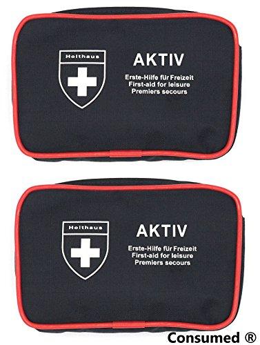 2 Stück Aktiv Verbandtaschen von Holthaus Medical jeweils mit 24 teiliger Füllung – im exklusiven Consumed Bundle