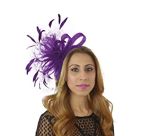 Charlie Ascot Bibi Chapeau–Bandeau avec peigne ou Royal Purple