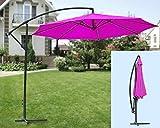 IMC Manufactoria Ombrellone Rosa - Magenta con Supporto per ombrellone con manovella/piegabile - Ombrellone ca. Diametro: 300 cm
