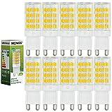 MENGS® Pack de 10 Bombilla lámpara LED 5 Watt G9, 51x 2835 SMD, Blanco Cálido 3000K, AC 220V-240V