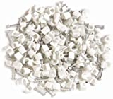 100 TV Coax Cable Clips, TV Cable Clips in White Aerials, Satellites and Cables