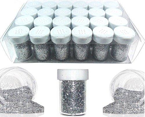 Perlin Lot de 10 g / 50 g / 100 g / 240 g Argent pailleté/Poudre de Paillettes/Poudre pour Nail Art/Poudre / Poudre de Paillettes/de Poudre de Paillettes/de la Marque Best Ware