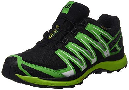 Salomon XA Lite GTX, Zapatillas de Running Para Hombre, Negro/Verde (Black/Classic Green/Lime Punch), 48 EU