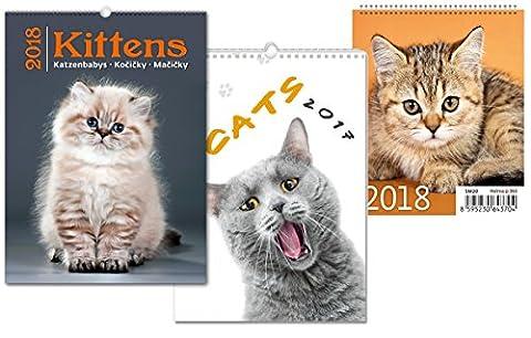 C170-17-18 Kalpa Wall Calendar 2018 Kittens 24 x 33 cm + Buy 1 Get 2 free Calendars 2 For 2018