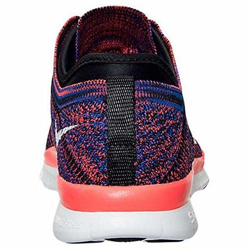 Nike Wmns Free Tr Flyknit, Scarpe da Ginnastica Donna Nero/Bianco/Cremisi (Black / White-Rcr Bl-Brght Crmsn)