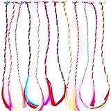 Fully Hair Streak, Coloured Hair Extension For Girls, Multicolor, 40 Grams, Set Of 12, Pack Of 1
