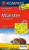 Münster und Umgebung: Fahrradkarte 1:50000 mit GPX-Daten zum Download. (KOMPASS-Fahrradkarten Deutschland, Band 3212)