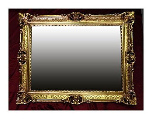 WANDSPIEGEL BAROCKSPIEGEL SPIEGEL IN GOLD 90x70 cm ANTIK BAROCK ROKOKO SHABBY CHIC RENAISSANCE...