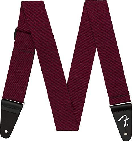 Fender - Tracolla moderna in tweed, 5,1 cm, colore: Nero/Rosso