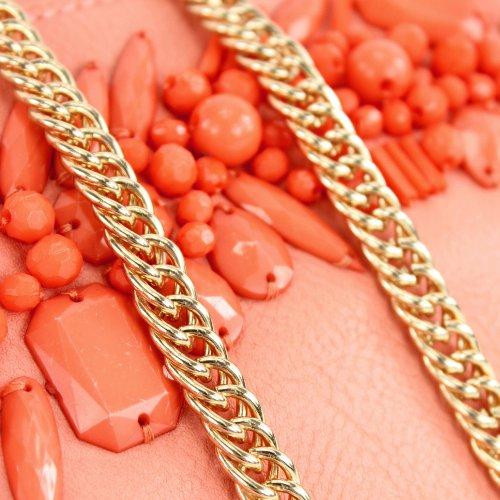 Borsa A Spalla Da Donna Borsa Da Sera Borsa Da Sera Con Pochette In Pelle Imitazione Oro Lk138101 Rosa
