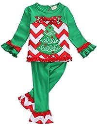 Bebé árbol de Navidad ropa de Navidad traje disfraz de pijama Tops pantalones Set
