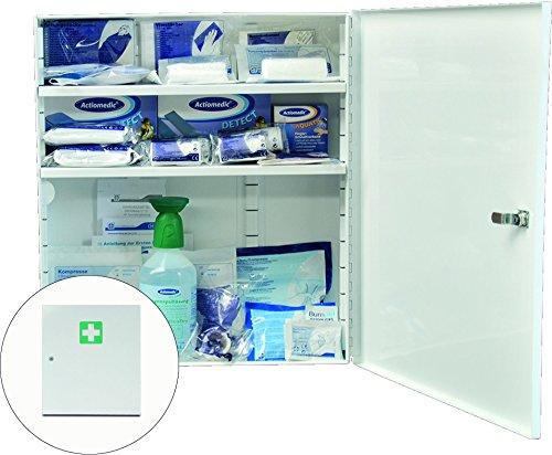 Metall-Branchenschrank WERKSTATT/KFZ Weiß 455 x 400 x 110 mm, gefüllt