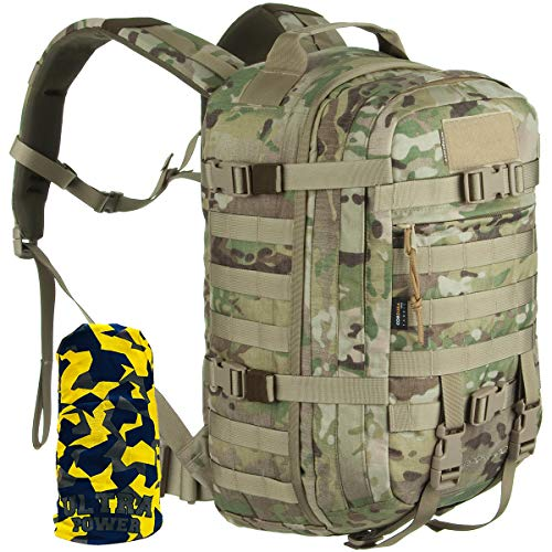 WiSPORT® SPARROW Rucksack 30 Liter | Cordura | Militär | MOLLE | Kampfrucksack | Wandern | Sport | Outdoor, Tarnung:US Multicam