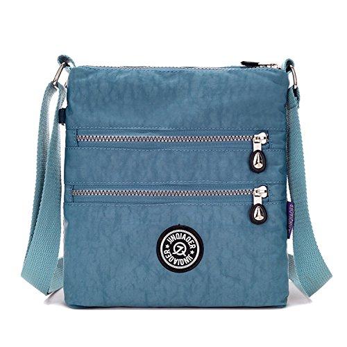Designer Handtasche Nylon (Outreo Umhängetasche Damen Schultertasche Leichter Messenger Bag Reisetasche Wasserdicht Taschen Designer Kuriertasche Mode Sporttasche für Mädchen)