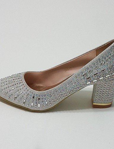ShangYi Chaussures Femme - Mariage / Habillé / Soirée & Evénement - Argent / Or - Gros Talon - Bout Pointu - Talons - Paillette Silver