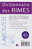 Image de Dictionnaire des Rimes