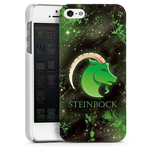 Apple iPhone 5s Housse Étui Protection Coque Signes du zodiaque Bouquetin Capricorne Astrologie CasDur blanc